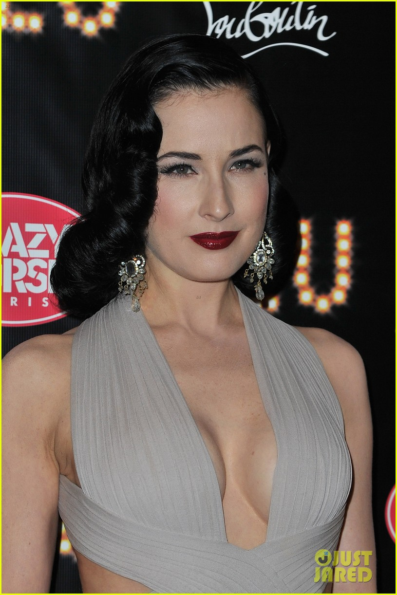 Dita Von Teese: 'feu' Premiere With Christian Louboutin!: Photo 2638377   Christian Louboutin, Dita Von Teese Pictures  Just Jared