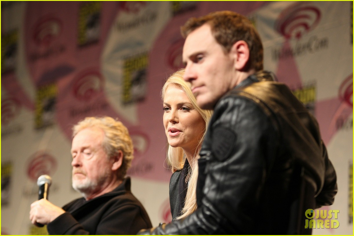 charlize theron michael fassbender prometheus panel wondercon 06