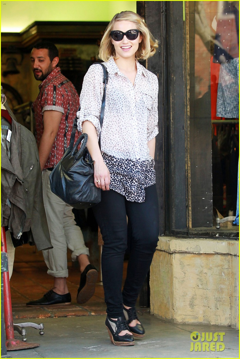dianna agron jeans shopping 04