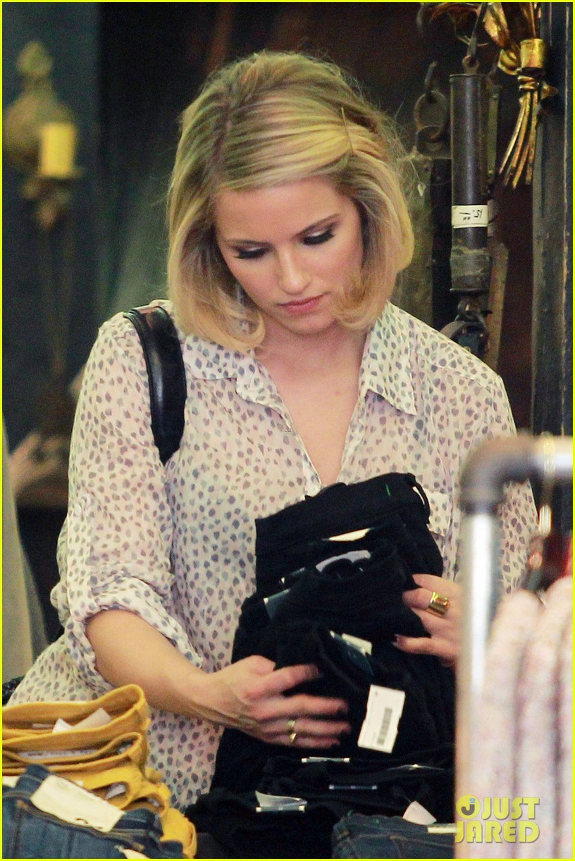 dianna agron jeans shopping 06