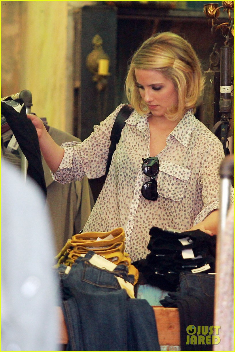 dianna agron jeans shopping 07
