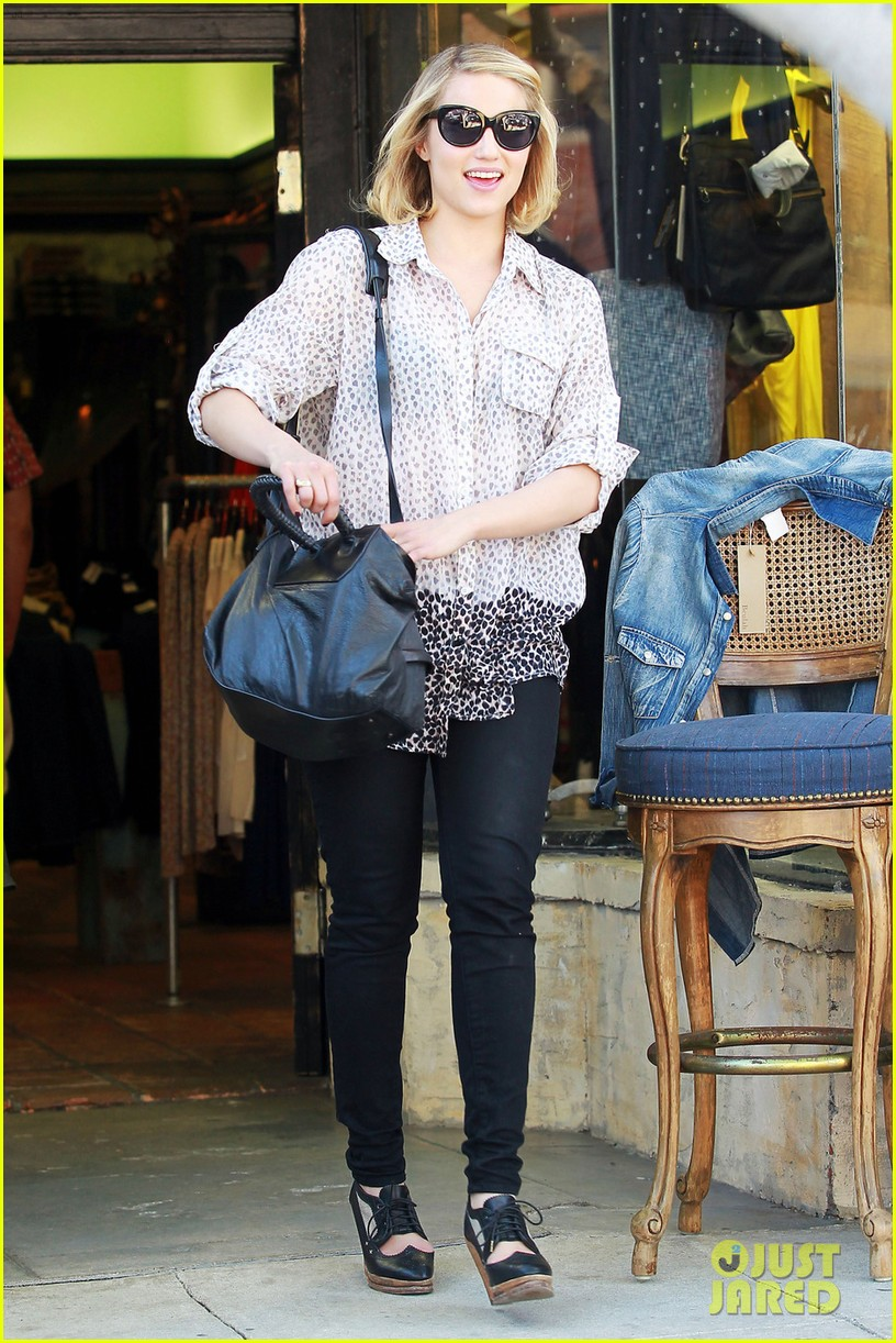 dianna agron jeans shopping 08
