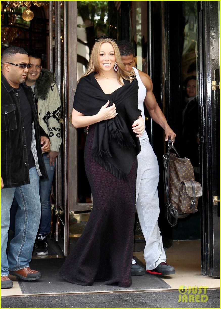 mariah nick leaving paris 10