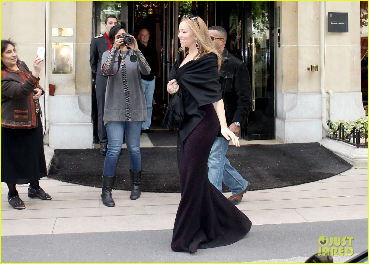 mariah nick leaving paris 11
