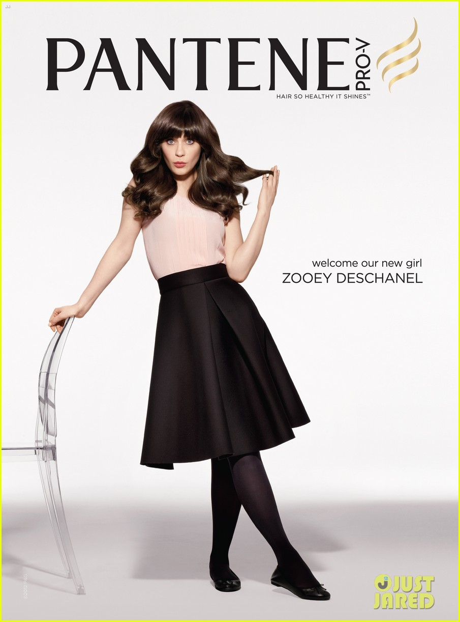 zooey deschanel pantene