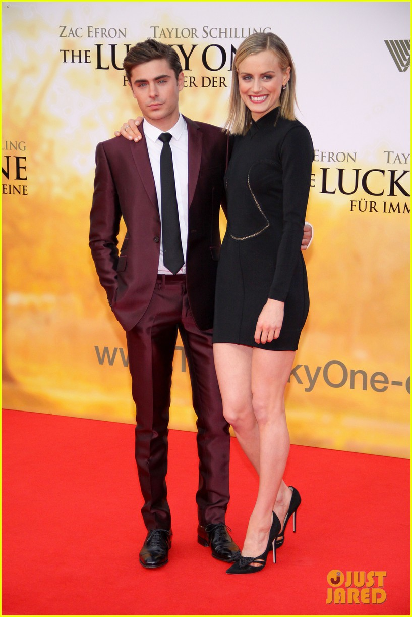 ¿Cuánto mide Zac Efron? - Estatura - Real height Zac-efron-taylor-schilling-lucky-one-germany-premiere-01
