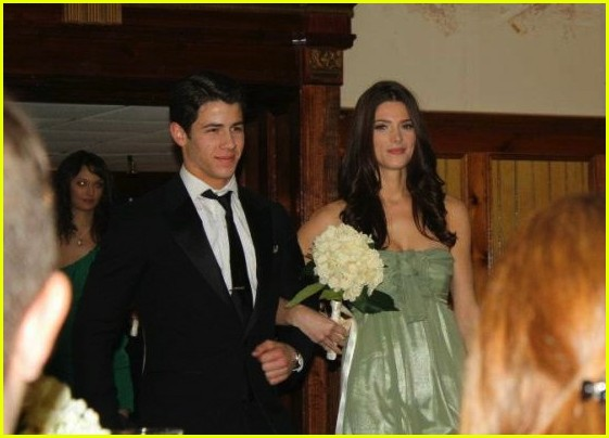 ashley greene nick jonas walk down aisle 01