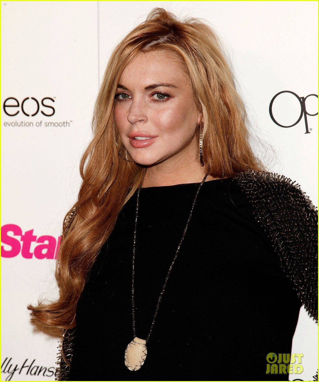 lindsay lohan star magazines all hollywood party 112653553