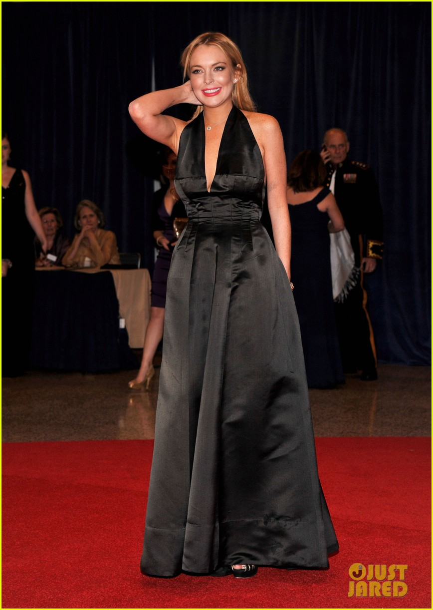 lindsay lohan white house correspondents dinner 03