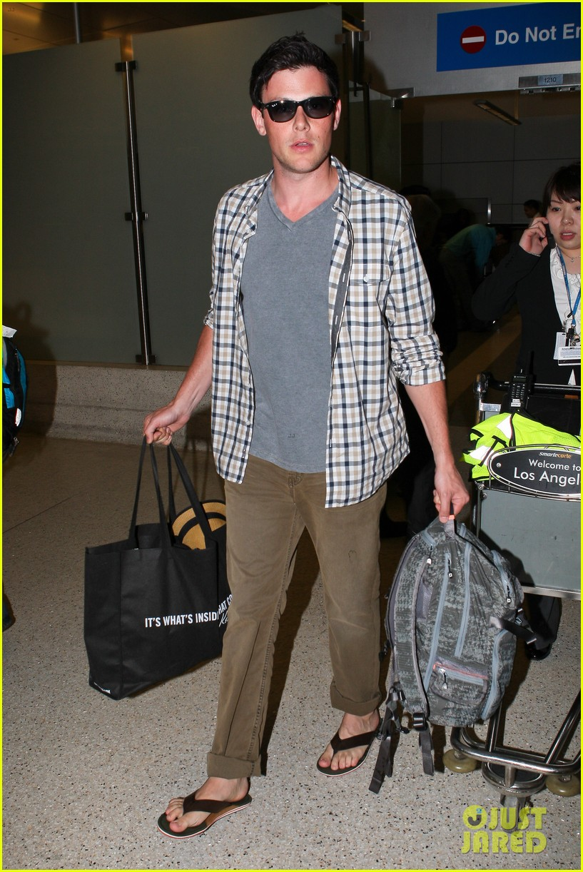 lea michele cory monteith lax 032646940