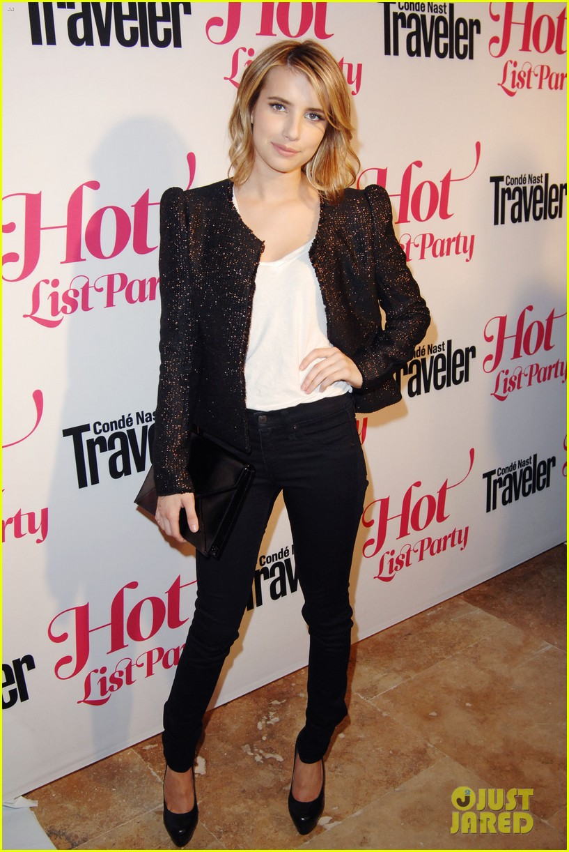 emma roberts chord overstreet conde nast hot list party 01