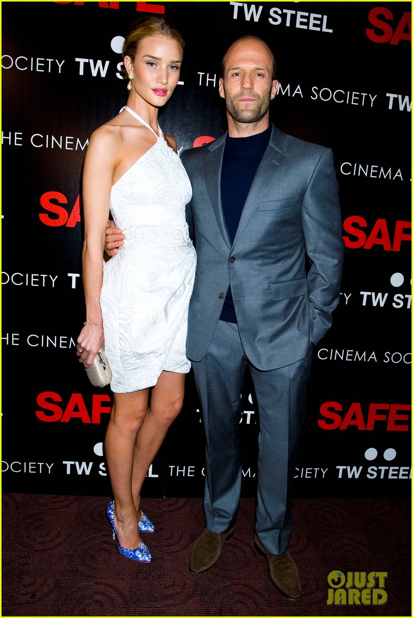 rosie huntington whiteley safe premiere jason statham 11