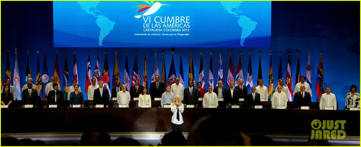 Full Sized Photo of shakira summit of the americas 08 | Photo 2650207 ... Shakira