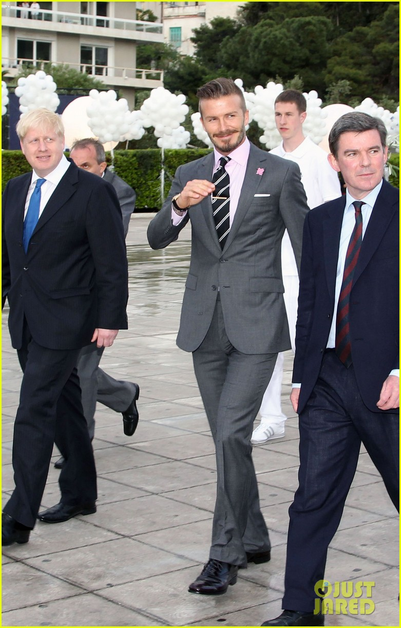 david beckham olympic torch handover greece 02