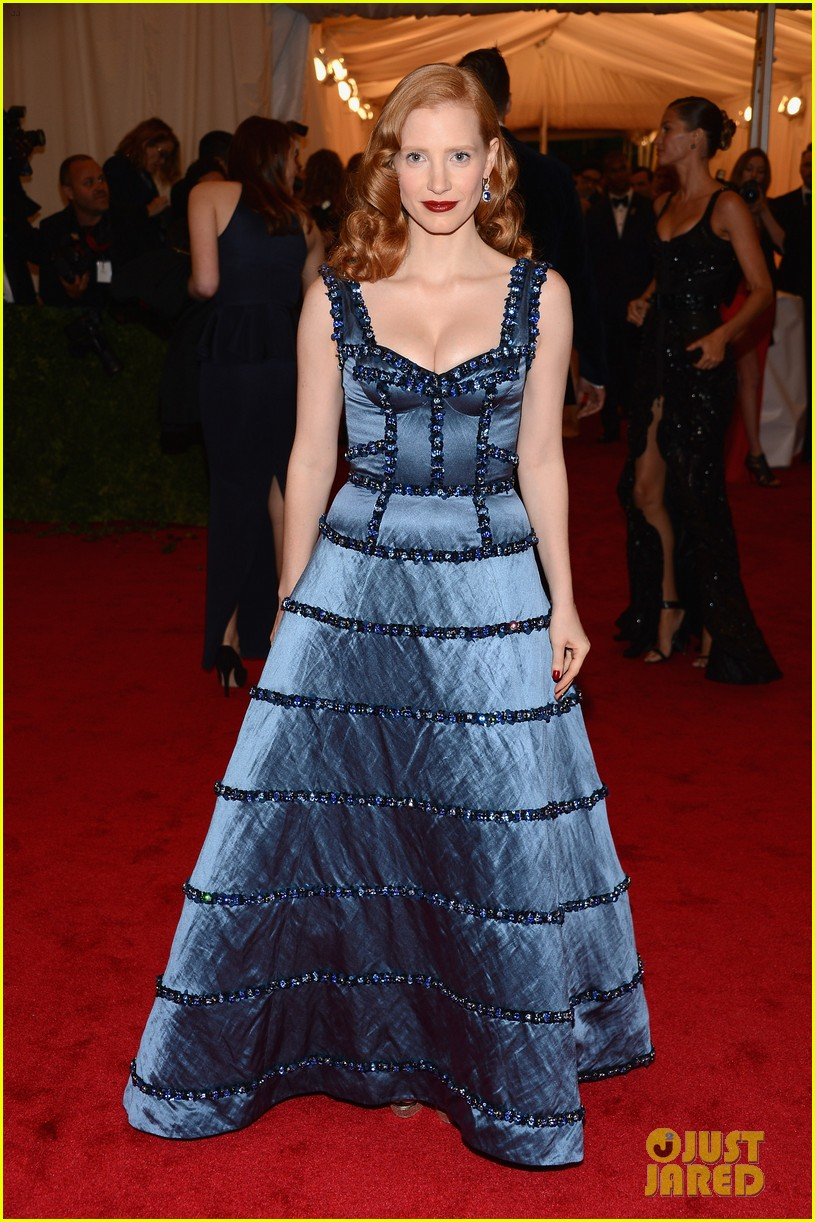 jessica chastain met ball 2012 05