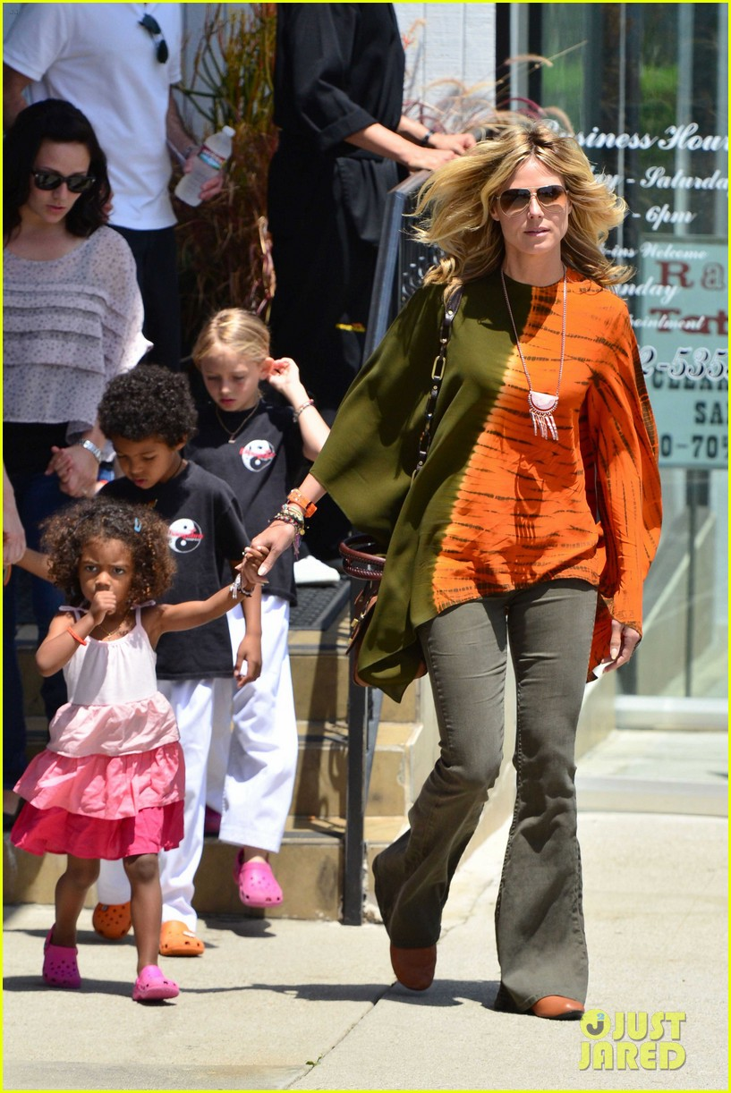 heidi klum mommy duties 08