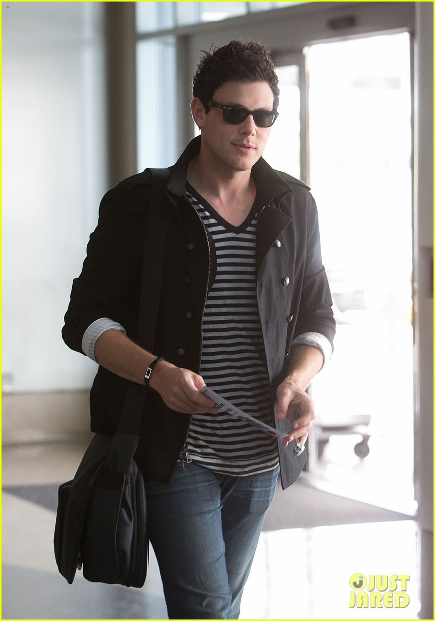 lea michele cory monteith new york bound for new york upfronts 09