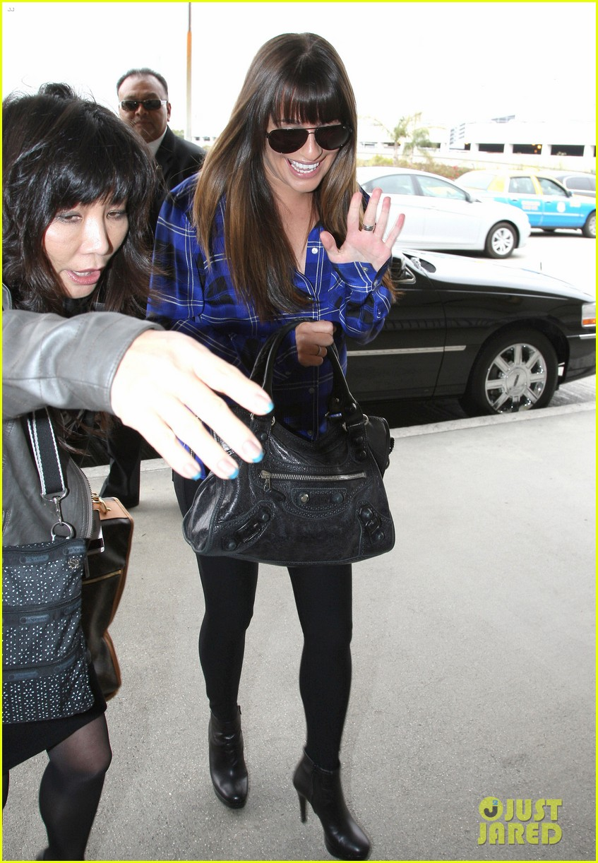 lea michele cory monteith new york bound for new york upfronts 112661250