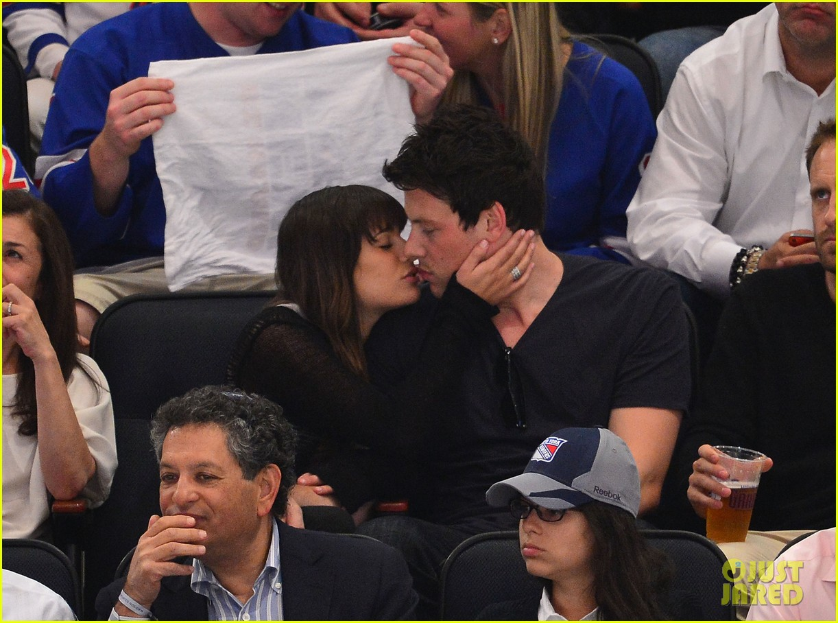 lea michele cory monteith lets go rangers 012663563