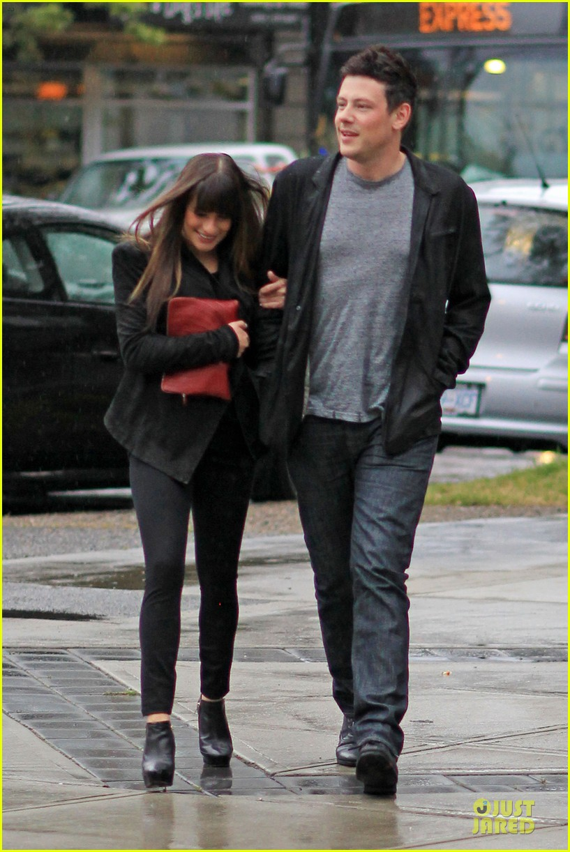 lea michele cory monteith sushi vancouver 132668806