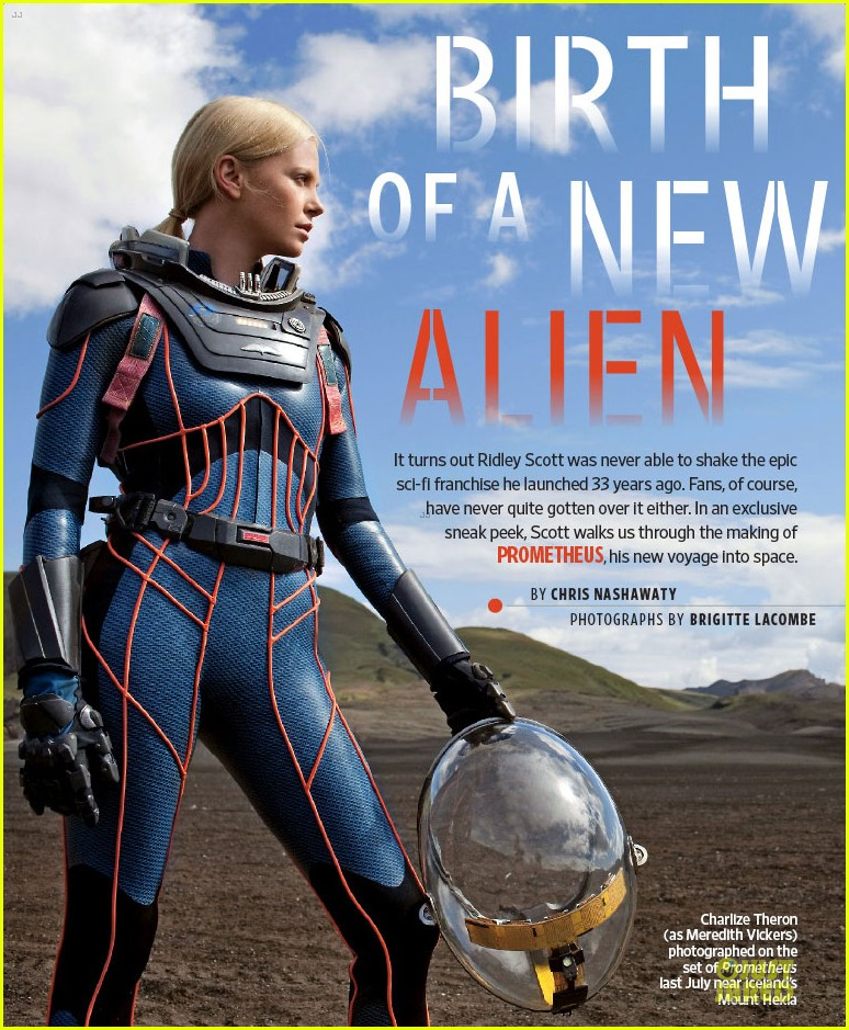 charlize theron prometheus covers entertainment weekly 11