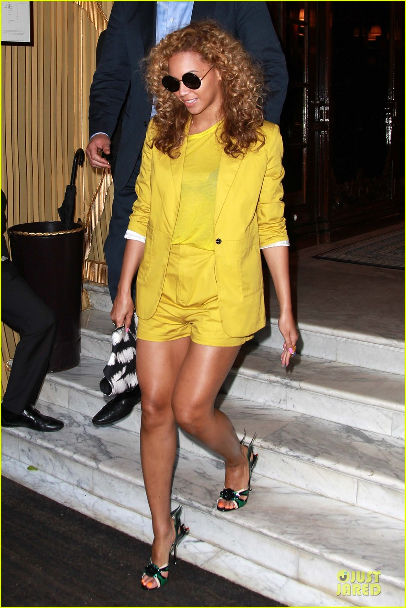 beyonce jay z hotel exit paris 08