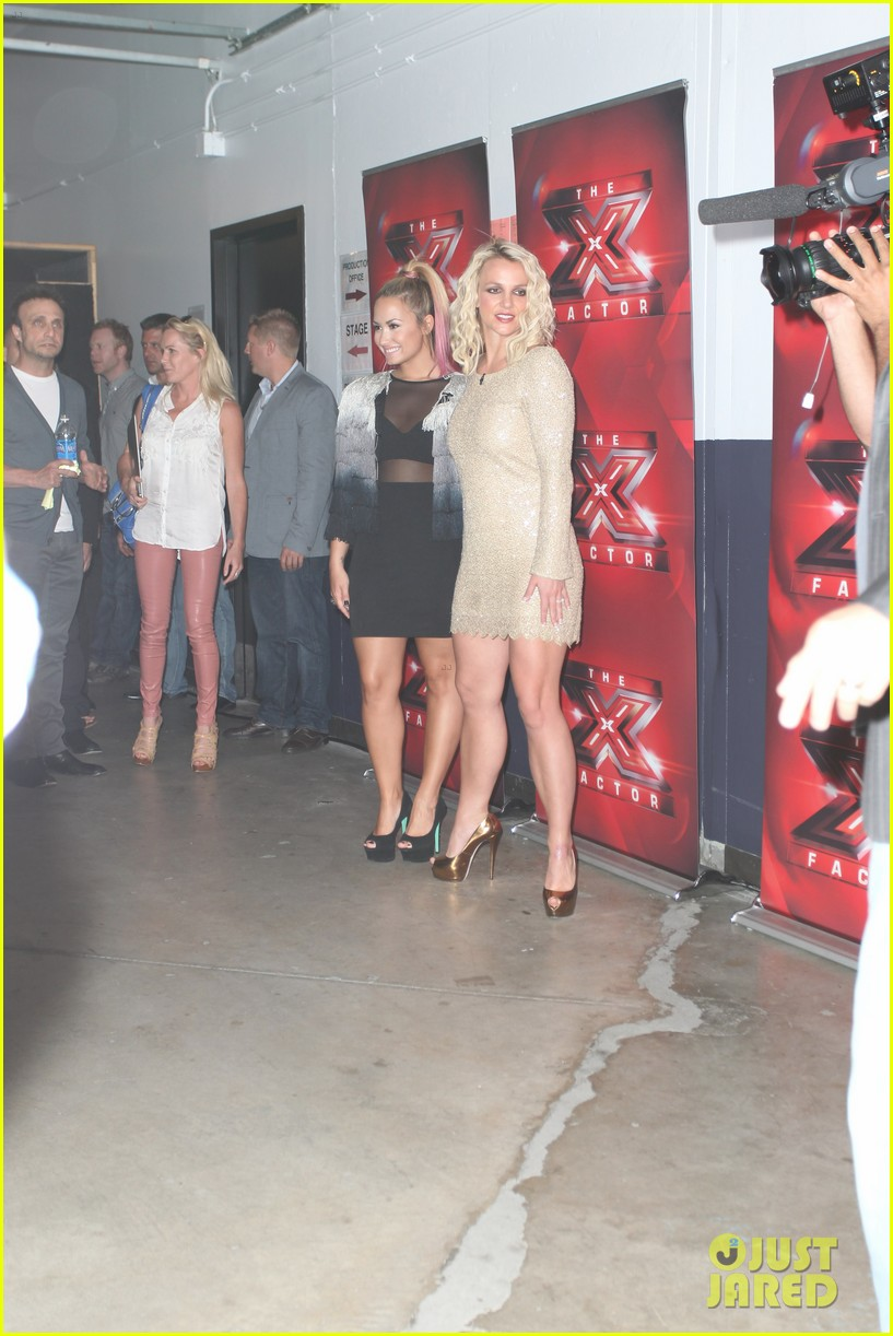britney spears demi lovato san francisco x factor auditions 04