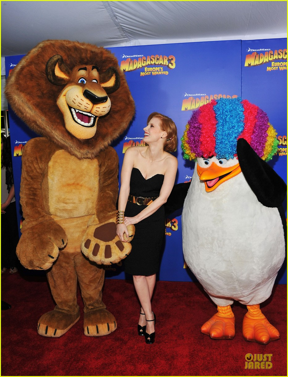 jessica chastain madagascar 3 nyc premiere 01