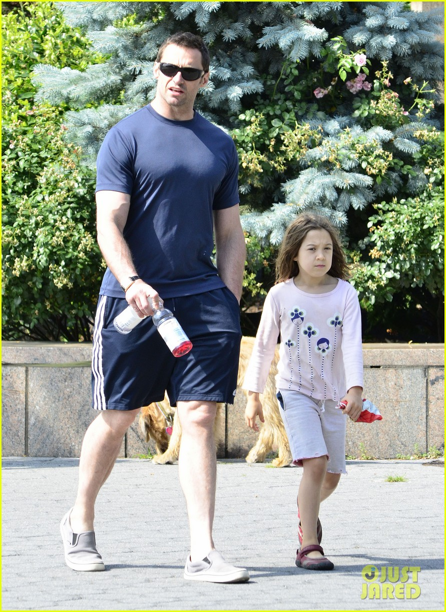 hugh jackman fathers day walk 042676340
