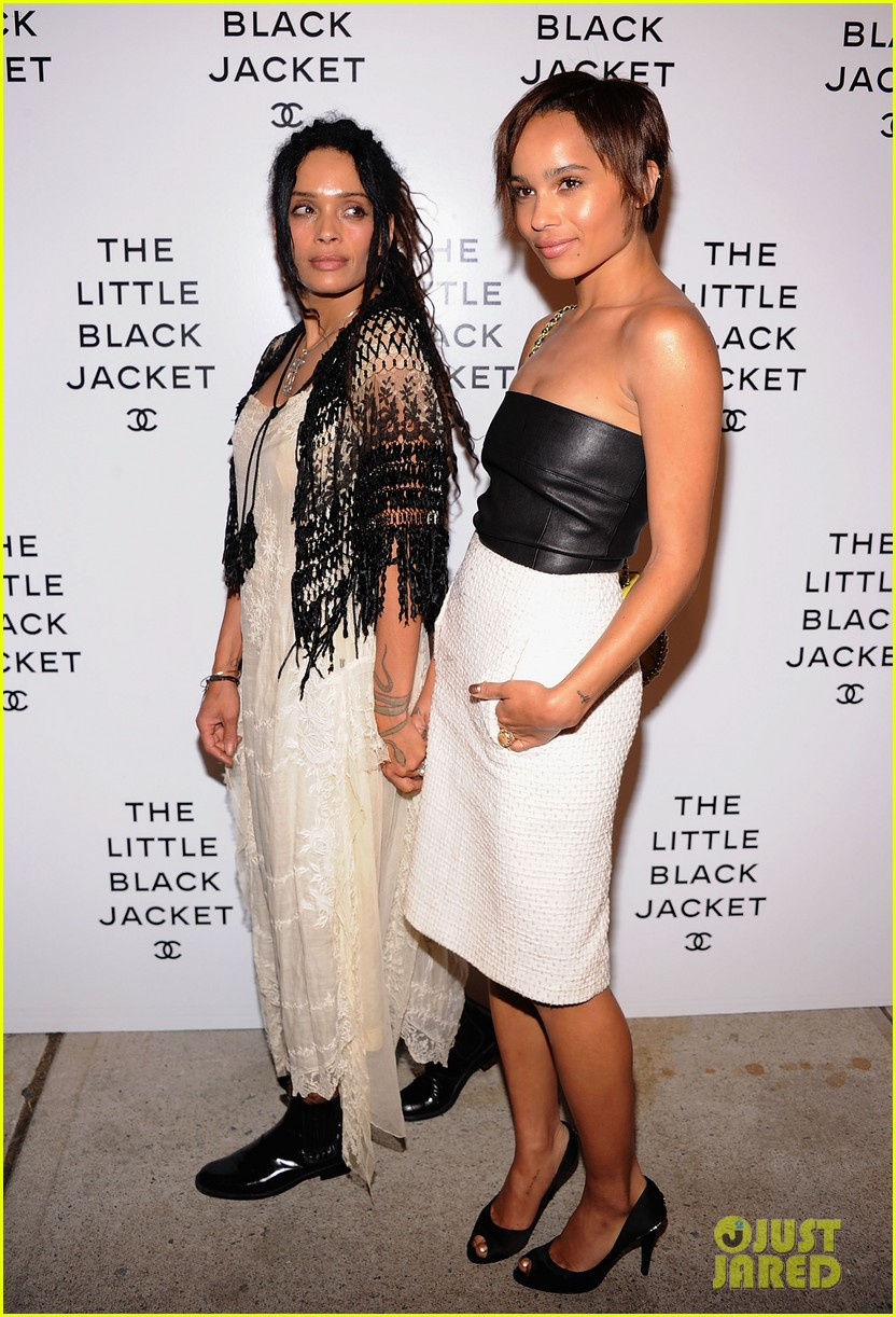zoe kravitz penn badgley little black jacket 012671633