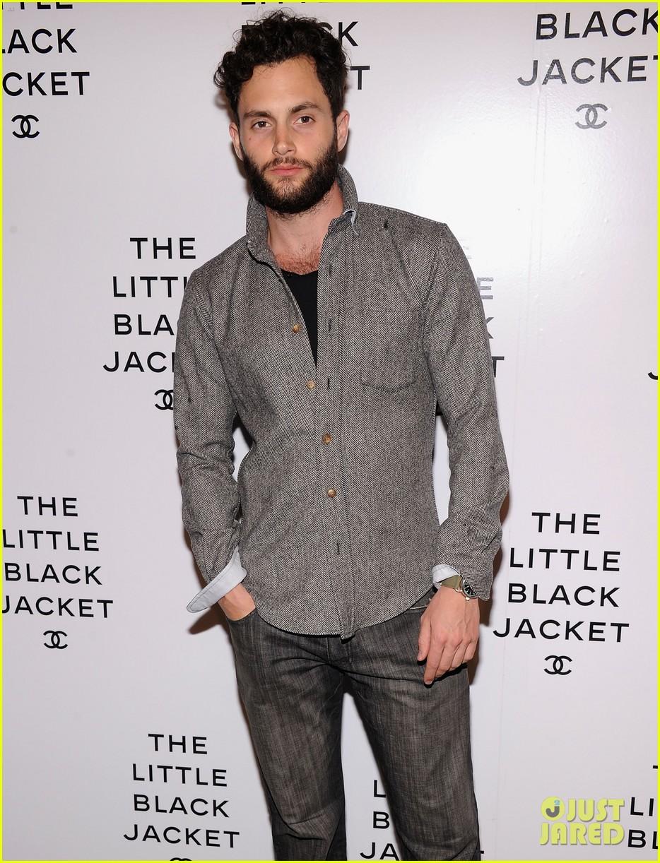 zoe kravitz penn badgley little black jacket 022671634