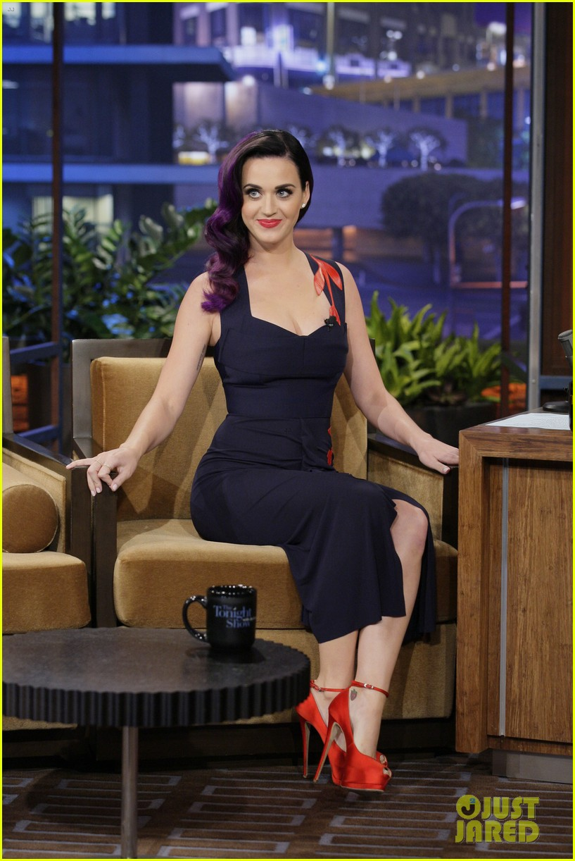 katy perry tonight show with jay leno visit 012678073