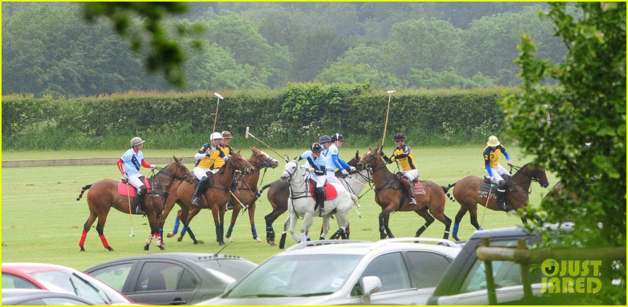 princes harry william charity polo match 08
