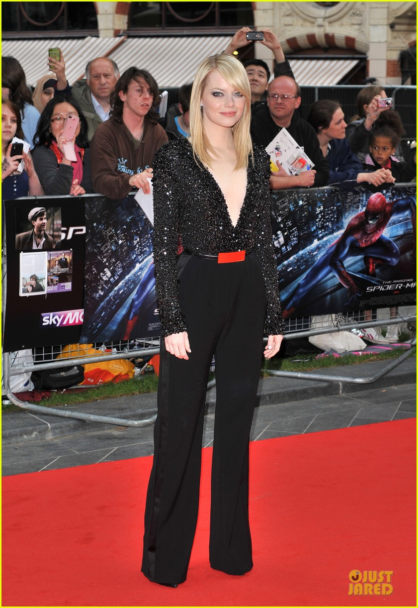 emma stone andrew garfield spider man london 042676658
