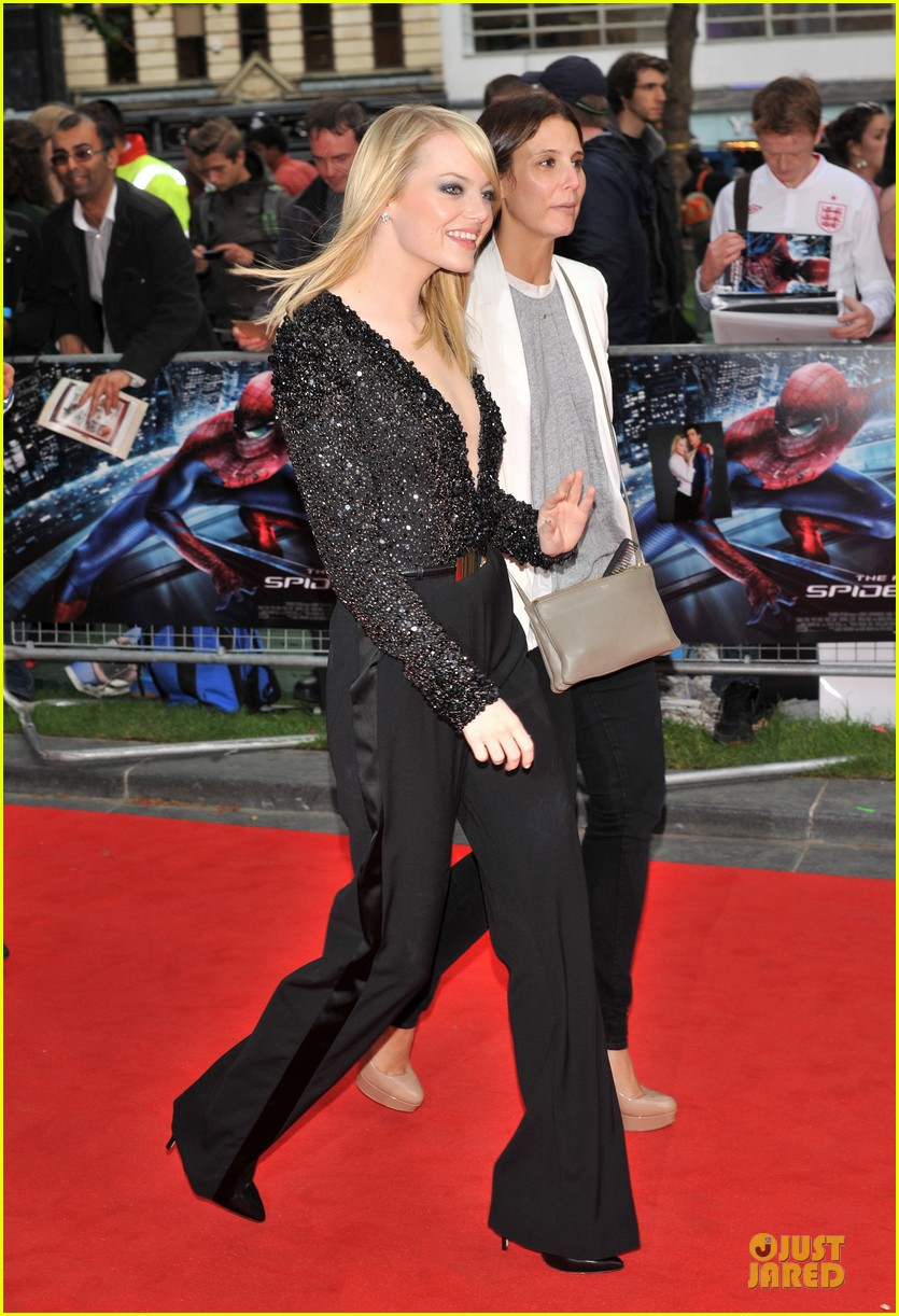 emma stone andrew garfield spider man london 062676660