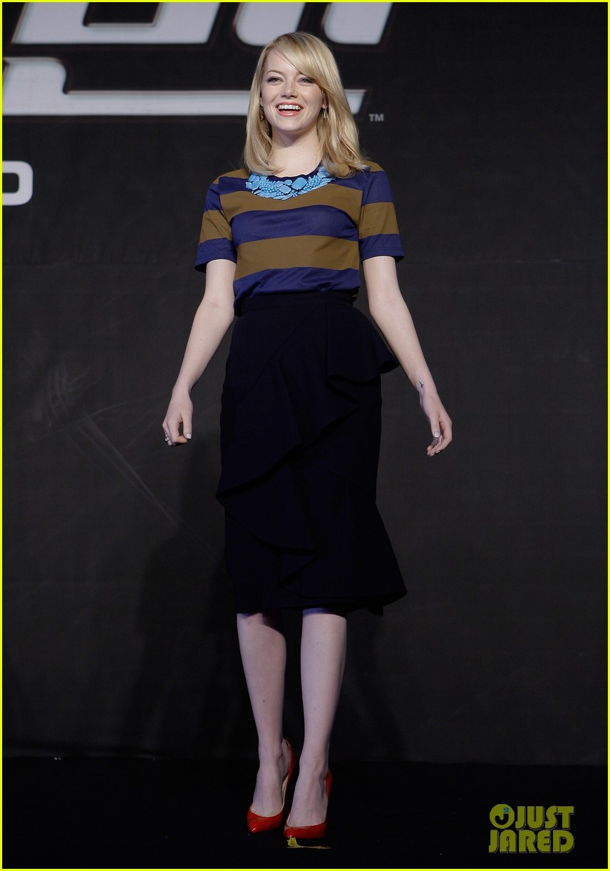 emma stone andrew garfield south korea press conference 12