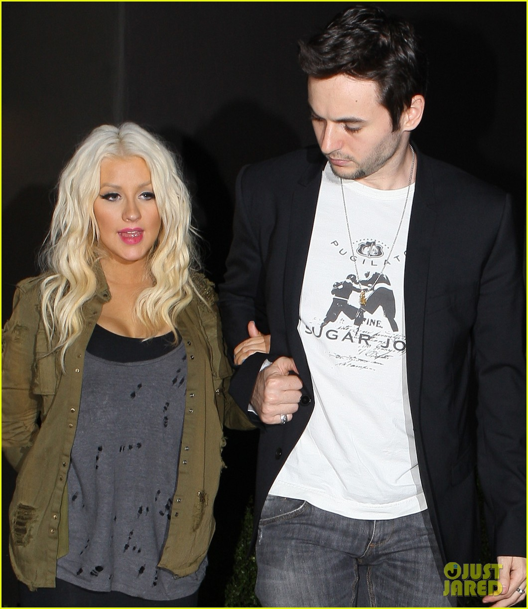 christina aguilera osteria mozza with matthew rutler 09
