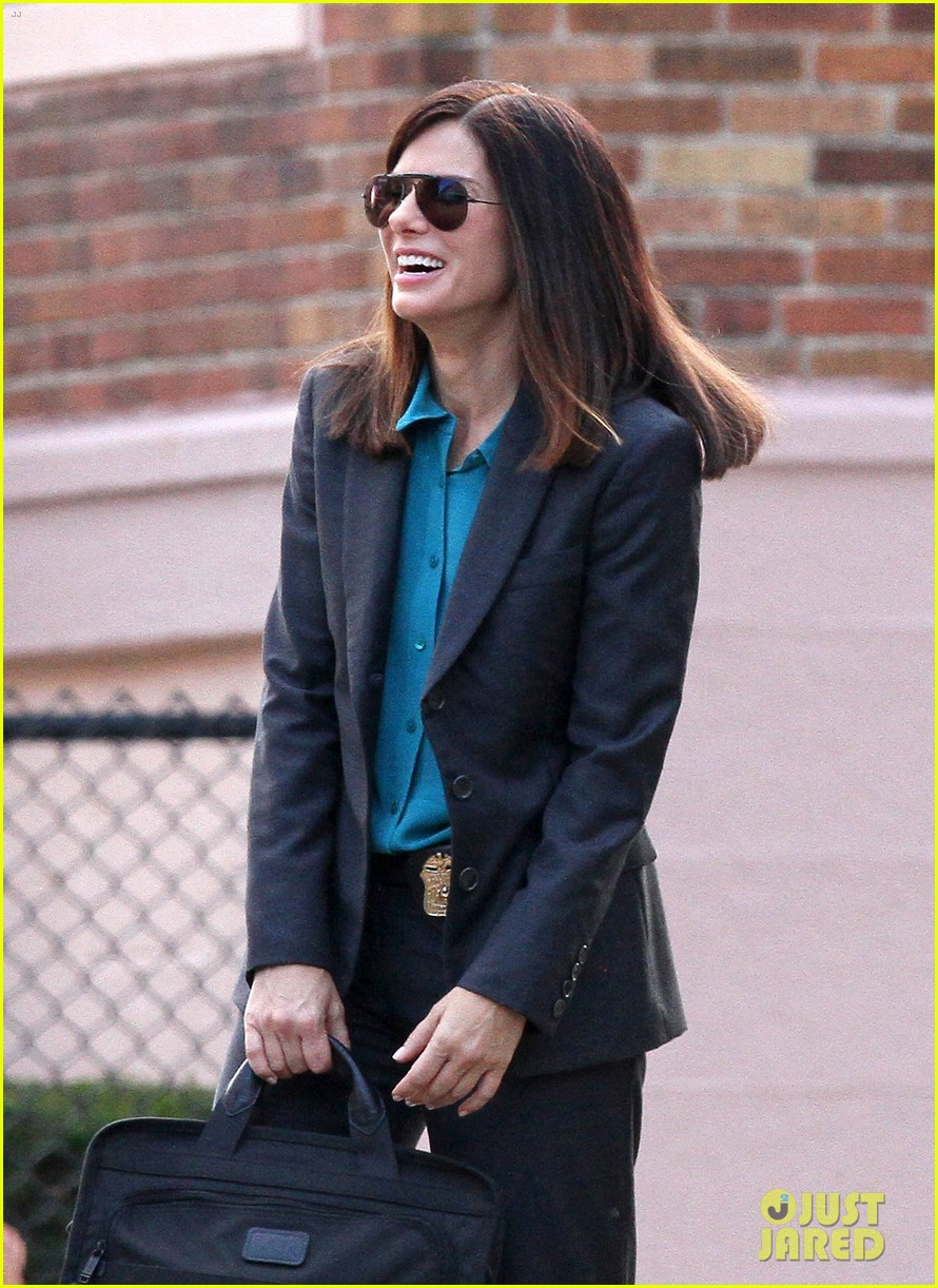 sandra bullock the heat set with melissa mccarthy 07