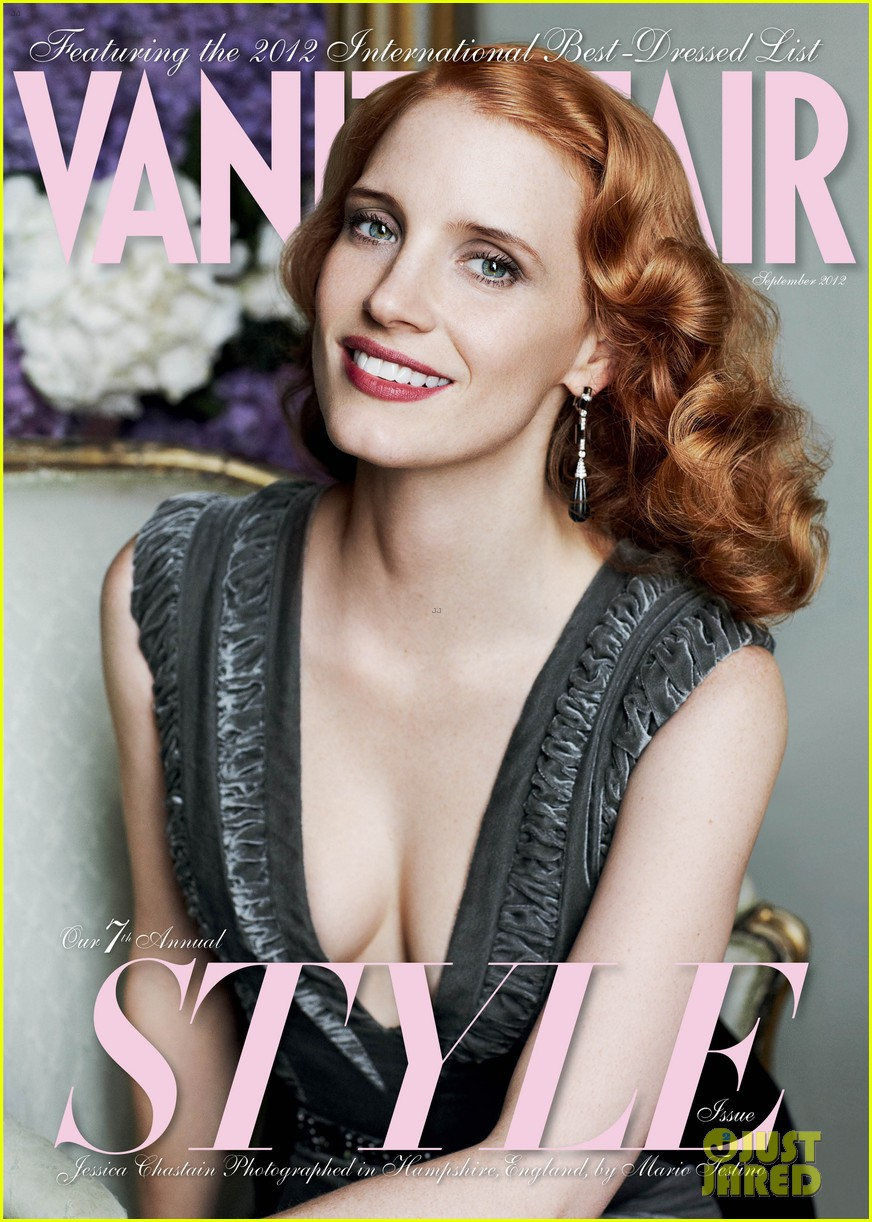 jessica chastain covers vanity fair september style issue photo 2694757 jessica chastain kate middleton magazine pictures just jared