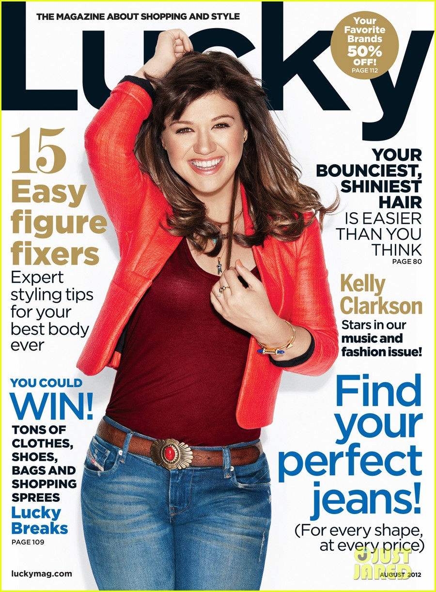 kelly clarkson covers lucky music issue 012682298