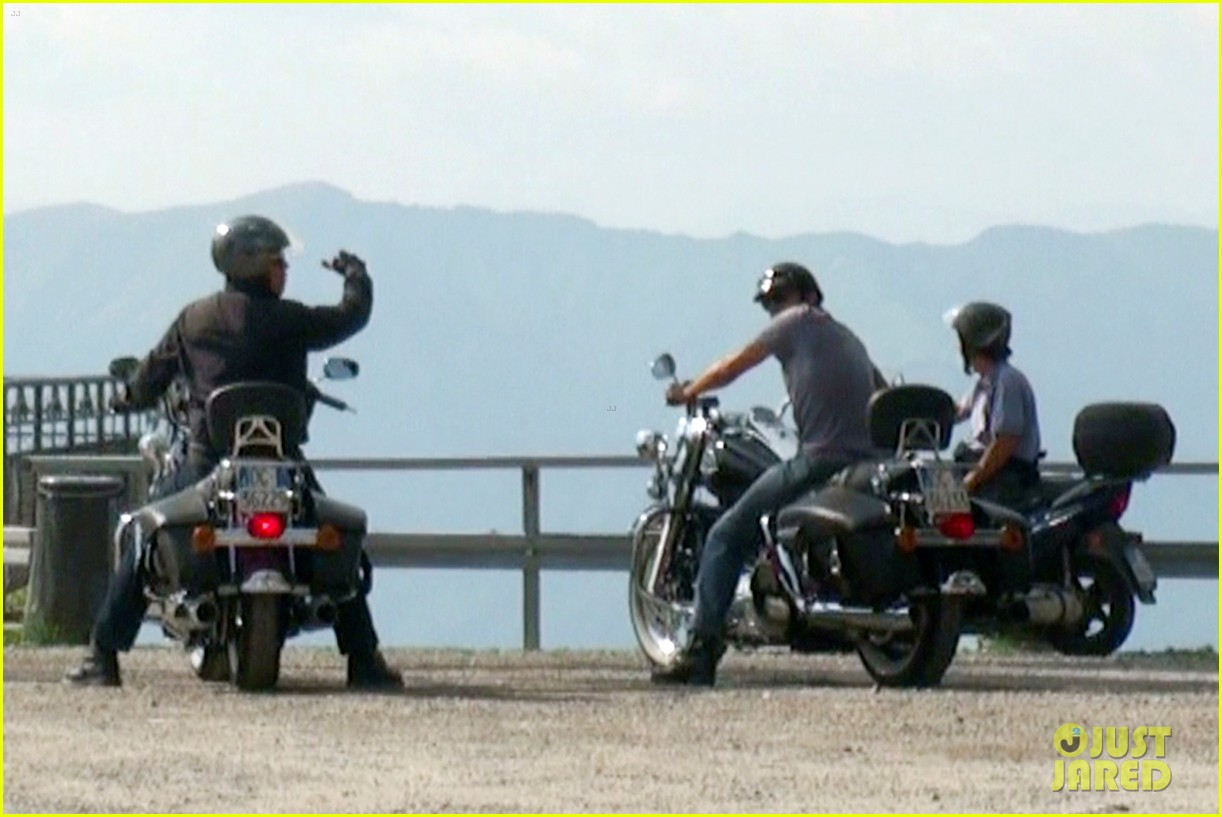 george clooney motorcycle in switzerland 02
