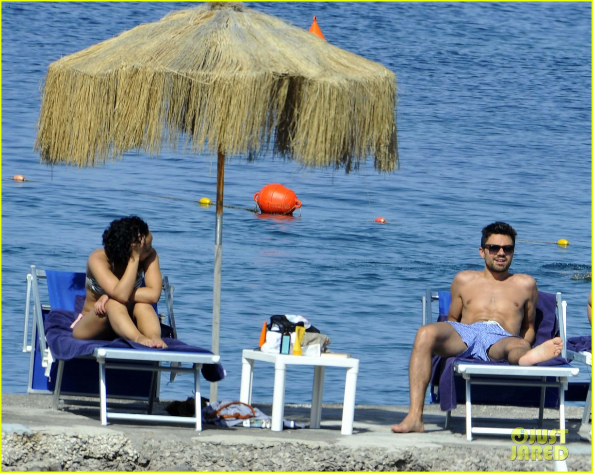 dominic cooper shirtless pda filled vacation with ruth negga 082686415