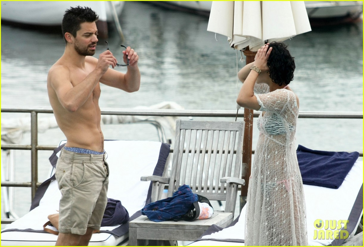 dominic cooper shirtless pda filled vacation with ruth negga 23