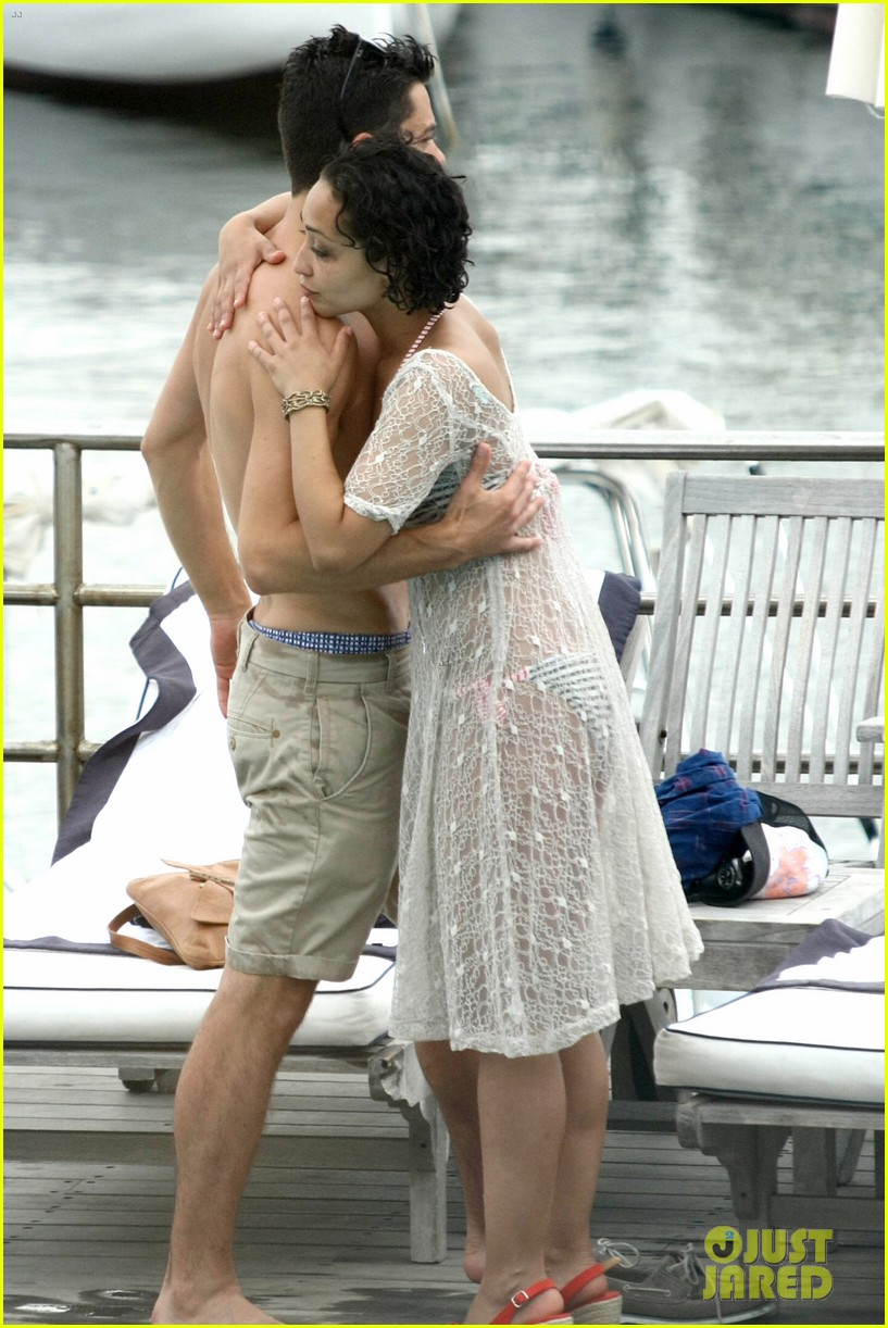 dominic cooper shirtless pda filled vacation with ruth negga 272686434