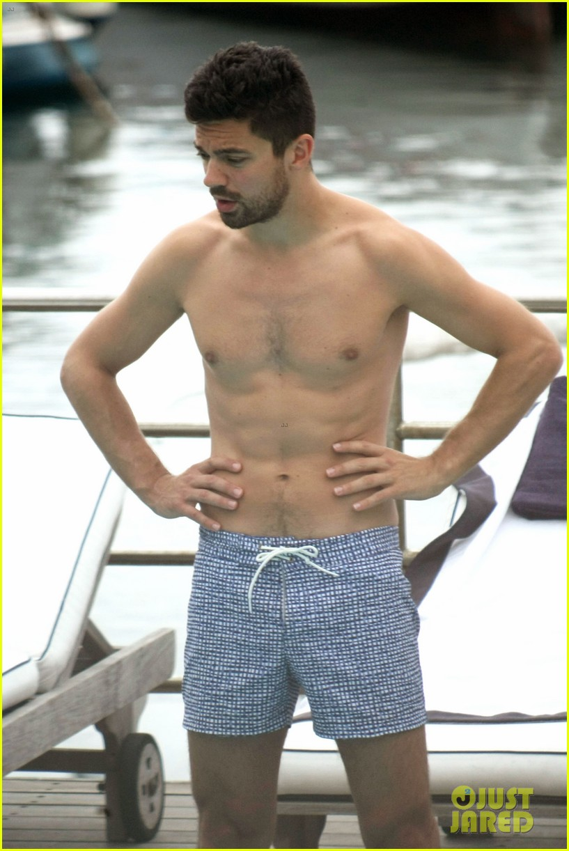 dominic cooper shirtless pda filled vacation with ruth negga 31