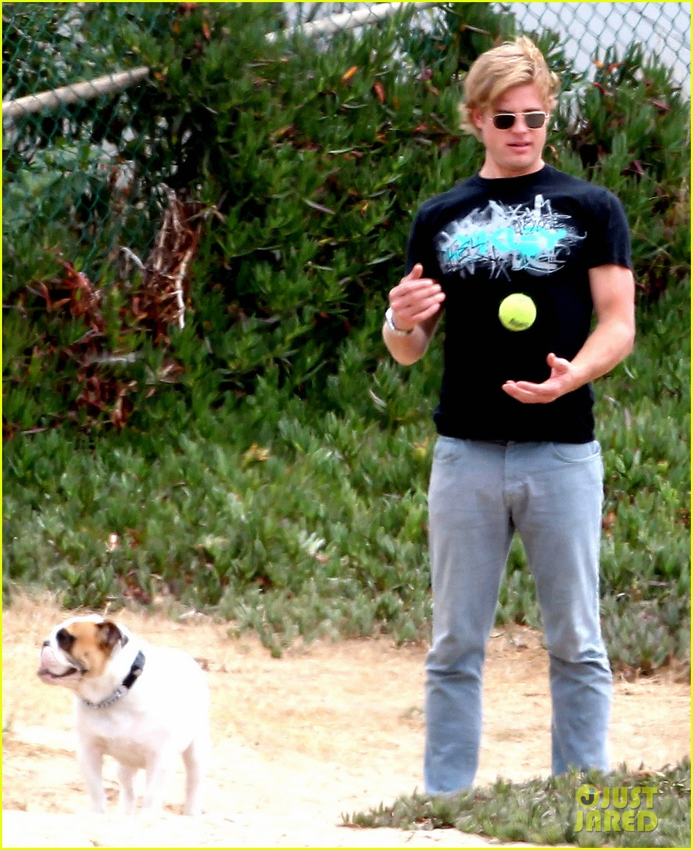 trevor donovan play with dog 01