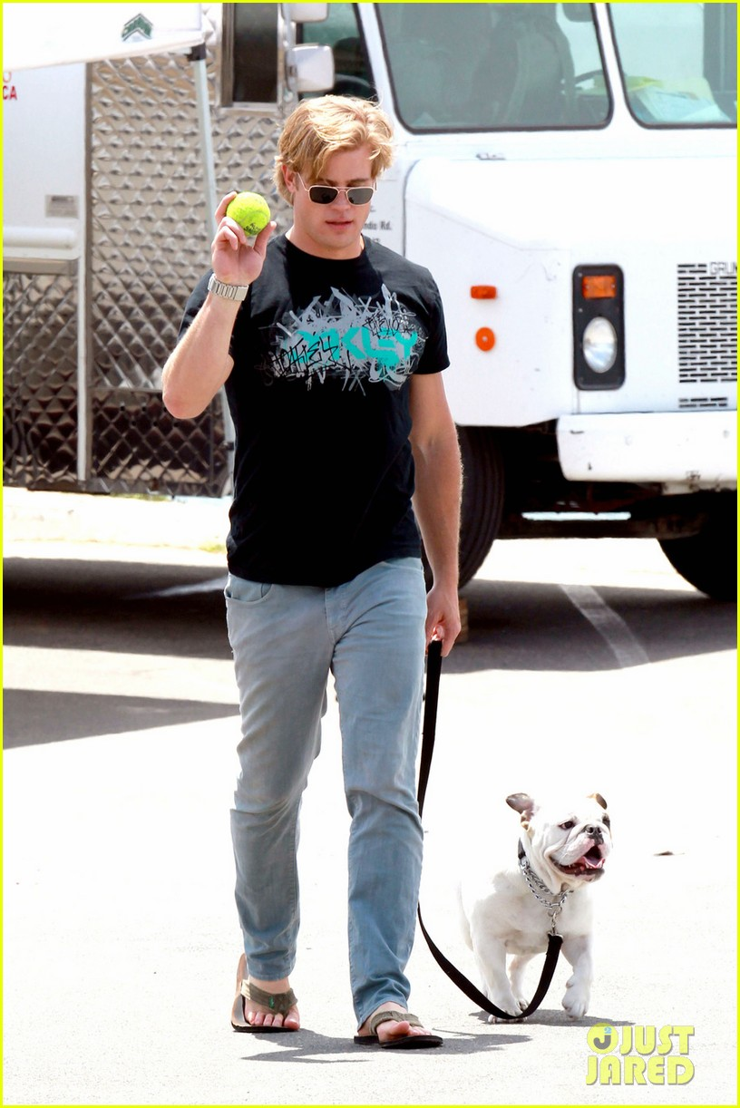 trevor donovan play with dog 05