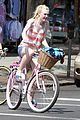 dakota fanning elizabeth olsen big apple bicycles 17