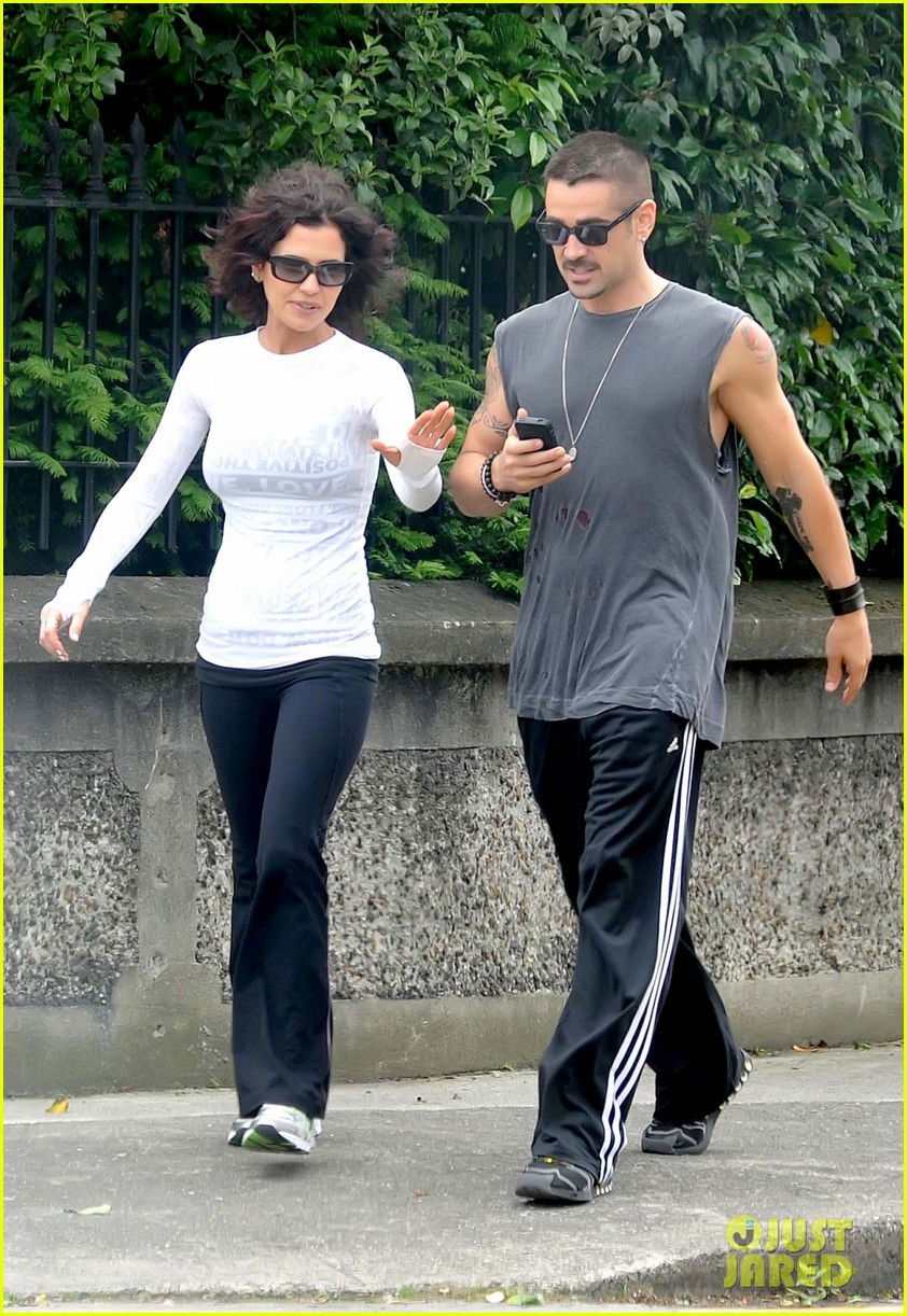 colin farrell morning stroll with sis claudine 07