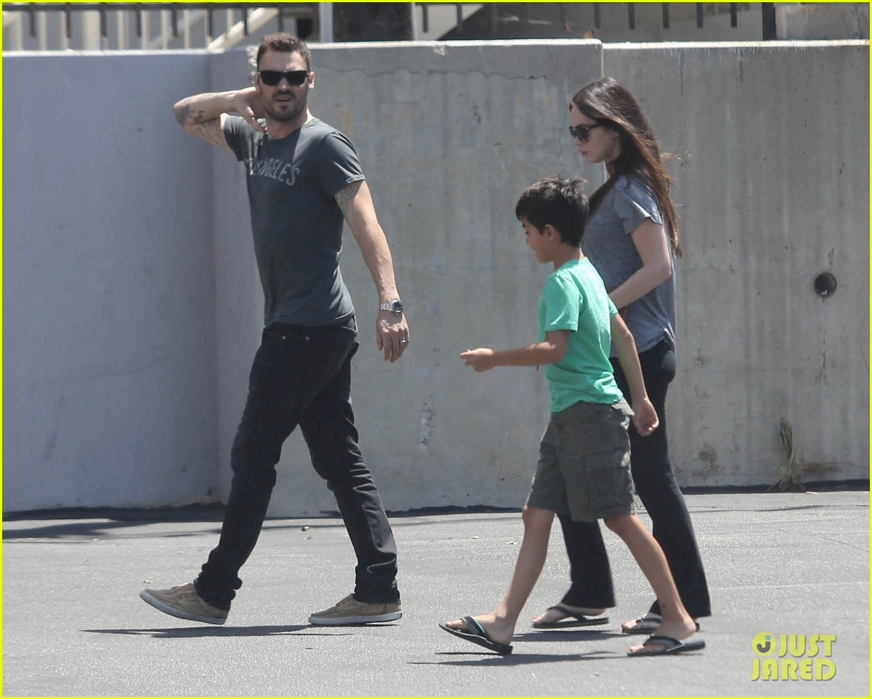megan fox brian austin green lunch with kassius 03